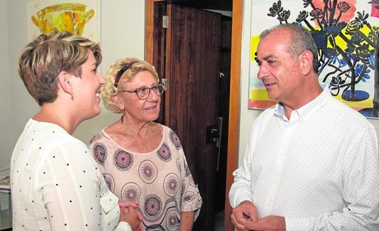 Arroyo, García y Poyato, momentos antes de la reunión. / a. gil / agm