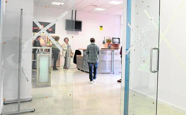 The waiting room of the Lorca Social Services center, in a file image.