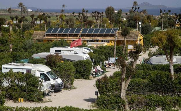 El camping Villas Caravaning de La Manga, en una fotografía de archivo. /Pablo Sánchez / AGM