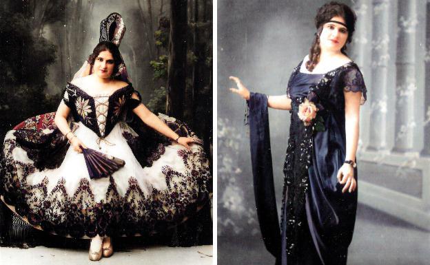 Mary Bruni, toda sensibilidad, arte y elegancia.  'La Predilecta de Cartagena', en 1914./