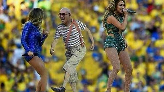 Pitbull y sus pantalones, protagonistas de los 'memes' del Mundial